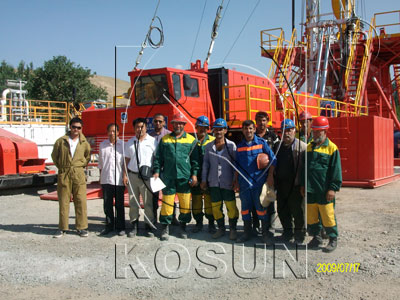 KOSUN After-sale Engineer with Local Workmen